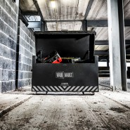 A Van Vault 4-Site storing securely tools & equipment on a construction site. S10270