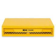 A yellow Van Vault Stacker secure drawer solution for protecting hand and power tools. S10346