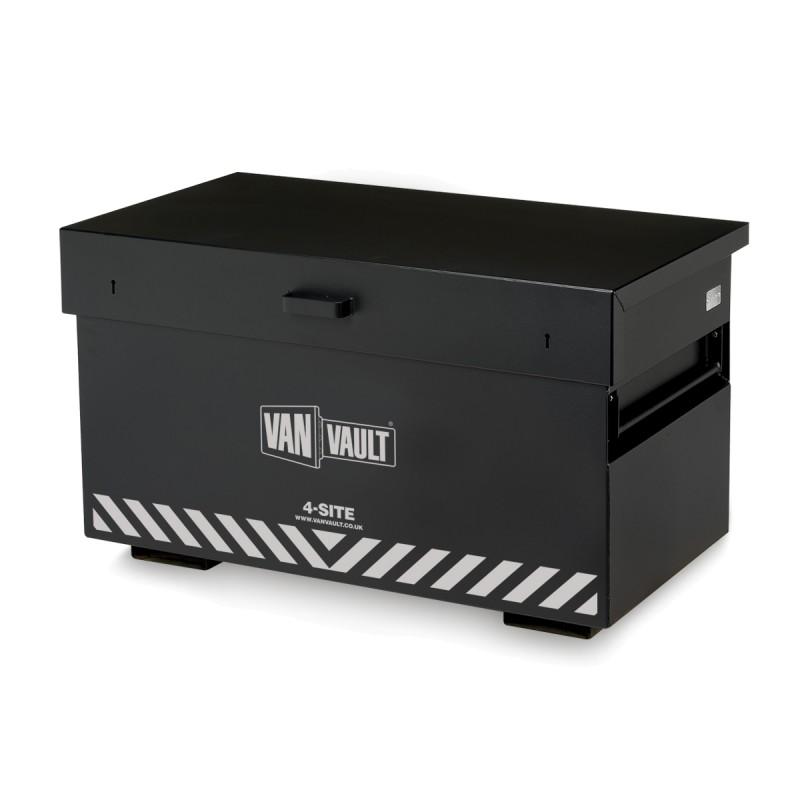 A black Van Vault 4-Site that provides maximum secure storage space on site. S10270