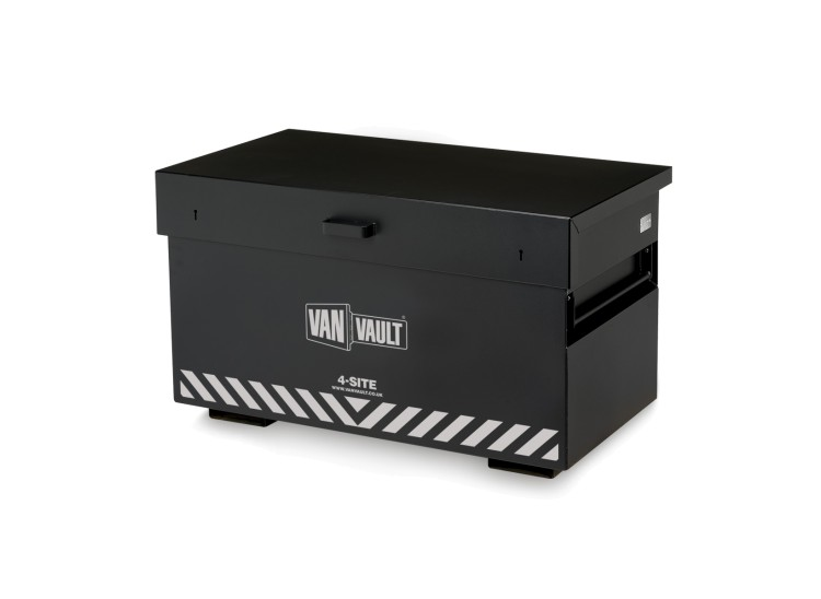 A black Van Vault 4-Site that provides maximum secure storage space on site. S10270