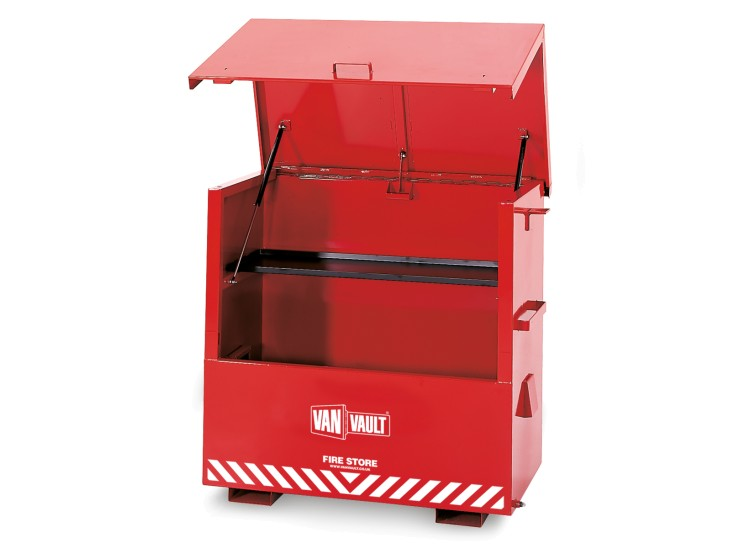 A Van Vault Fire Store built specifically for on site storage for flammable liquids. S10071