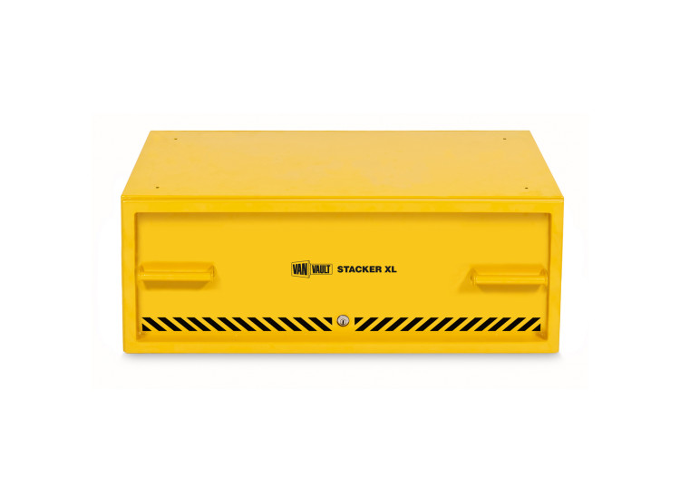 A yellow Van Vault Stacker XL secure drawer solution designed to protect tools. S10347