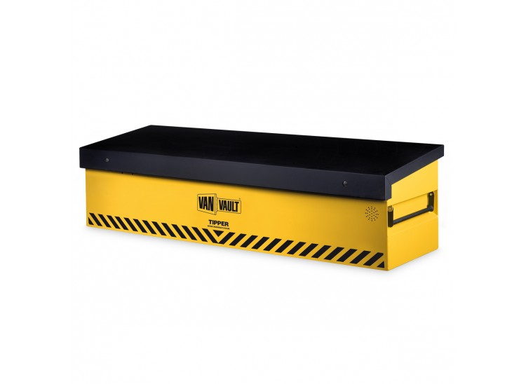 A yellow Van Vault Tipper, perfect for large vans & tipper style vehicles to protect tools and equipment. S10320