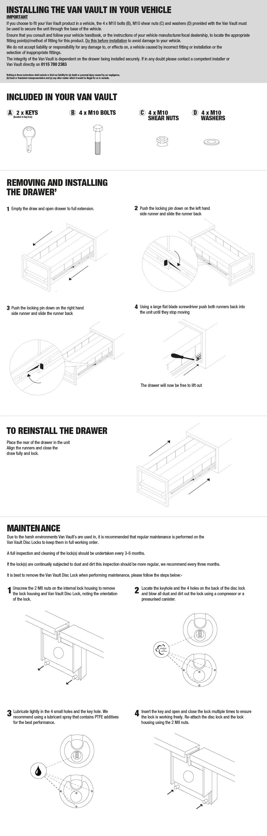Drawers installation guide